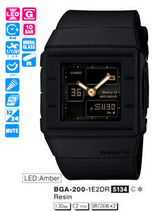 CASIO Baby-G Analog Digital series BGA-200-1E2