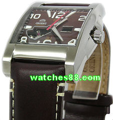 ORIENT 24mm genuine leather for CDBAA002T, CDBAA002W & etc Color: Brown Code: UDDKMST