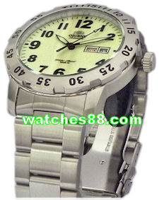 Orient original 22mm solid stainless steel bracelet for CEM7A001B, CEM7A002R & Etc. Code: QPDEAM