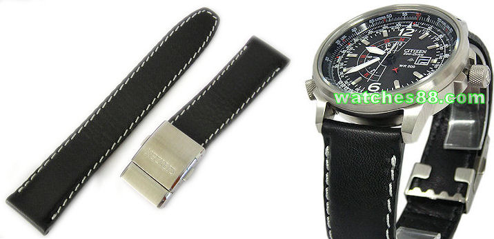 CITIZEN Genuine Leather Strap 22mm for  BJ7010, BJ7019  & etc. Code: 59-S50810 Color: Black