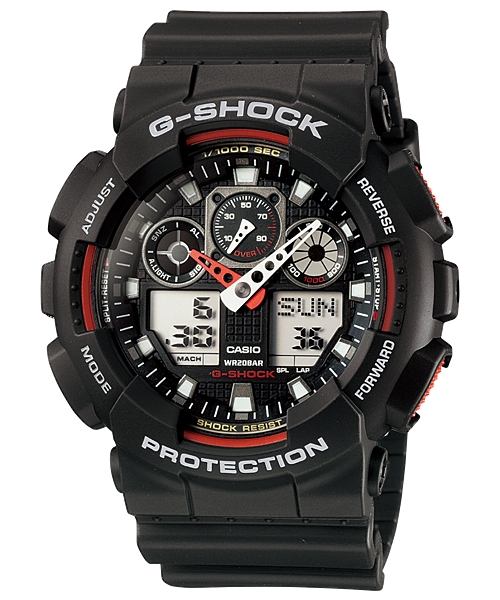 CASIO G-Shock Three Dial Face World GA-100-1A4