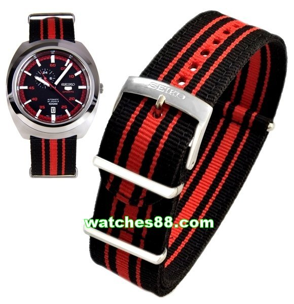 SEIKO 22mm Genuine Nato Nylon Strap for SSA287K1 Code: L0FP011J0