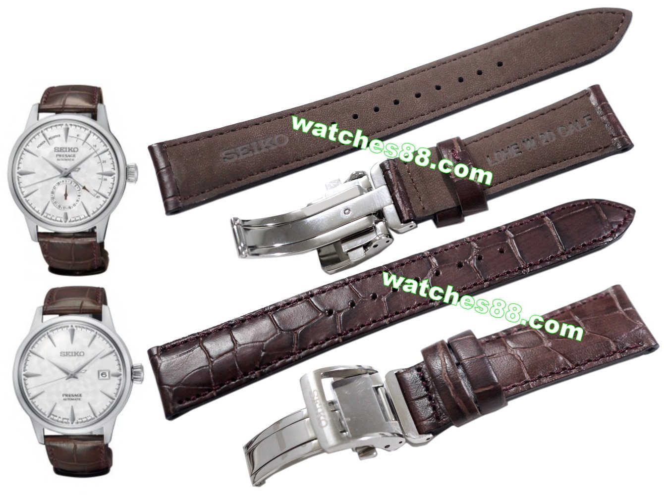 SEIKO PRESAGE 20mm Genuine Leather for SRPC03 SSA363J1 Code:L0HE015J0 Color:Brown