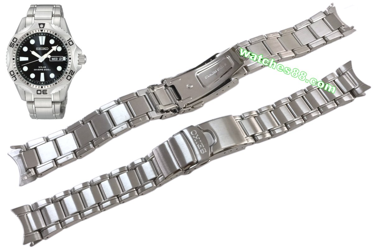 Seiko 20mm Solid Stainless Steel Bracelet for SNE107 & etc. Code: M0CC237J0