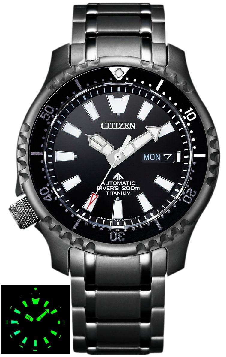 CITIZEN PROMASTER Fugu Super Titanium Limited Edition 500pcs Diver's 200m Automatic NY0105-81E