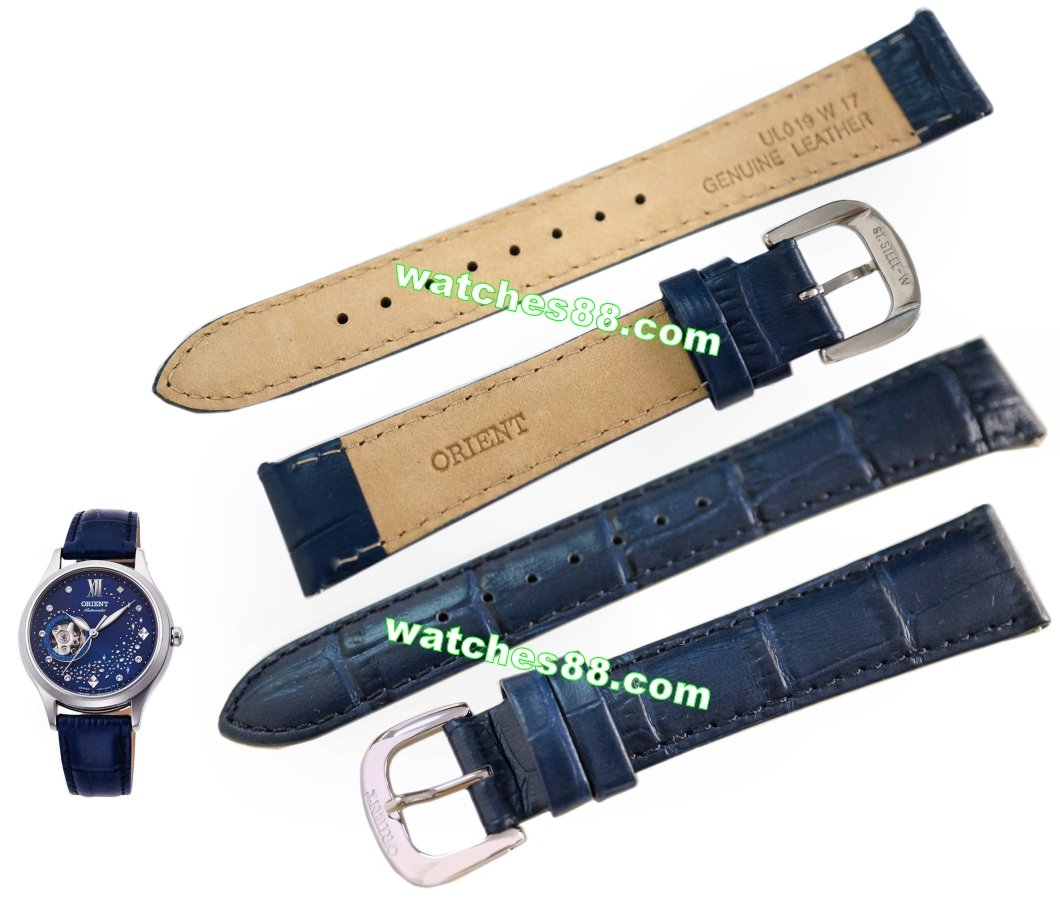 ORIENT 17mm Genuine Strap for FDB0A009D, RA-AG0018L  Code: UL019W17 Color: Blue