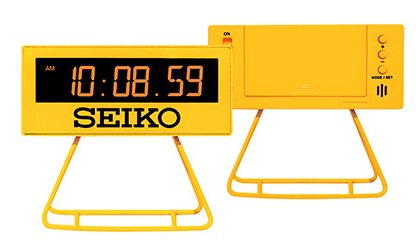 SEIKO Digital Alarm Clock YELLOW QHL062Y