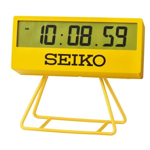 SEIKO Digital Clock Yellow QHL073Y
