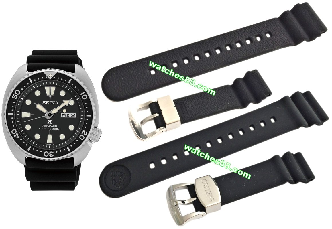 SEIKO 22mm Genuine Diver's Rubber Strap for SRP773, SRP775, SRP777 & SRP779 Code: R02F011J0