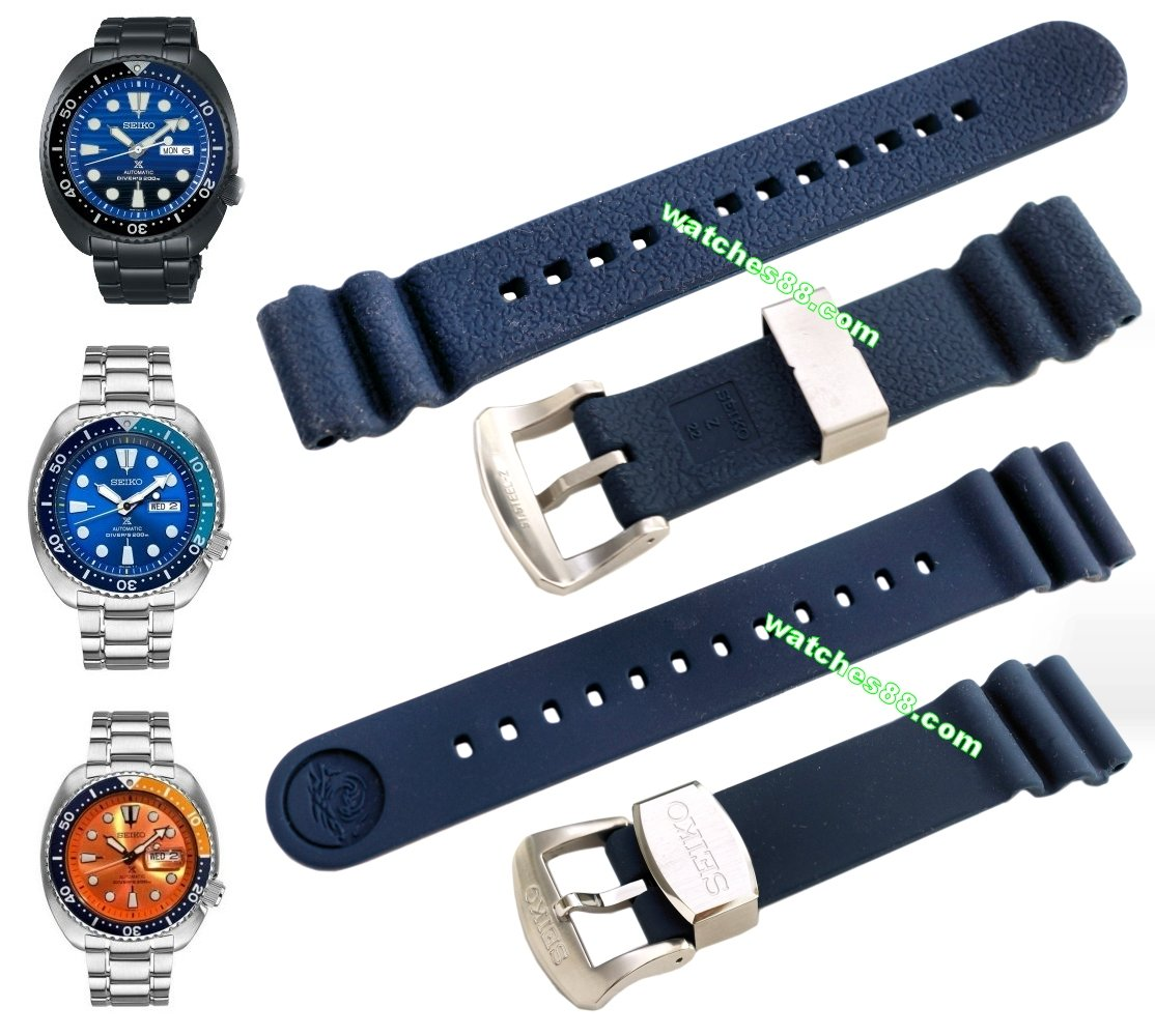 SEIKO 22mm Genuine Diver's Rubber Strap for SRP773, SRP775, SRP779 & SRPC95 Code: R02F013J0 Color: Blue