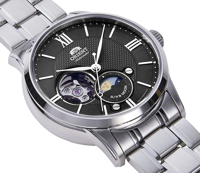 ORIENT Sun & Moon Open Heart Automatic RA-AS0002B  ( RN-AS0001B)