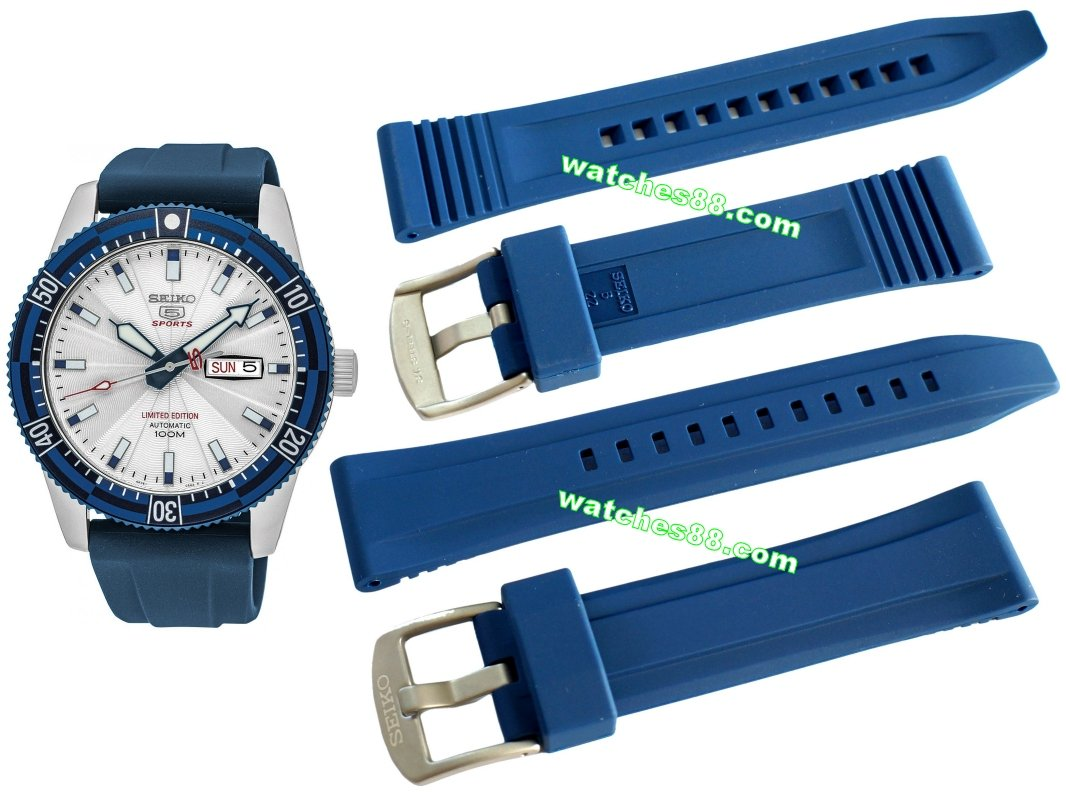 SEIKO 22mm Original Rubber Strap for SRP781, SRP783 & SRP785 Code: R00H017J0 Color: Blue