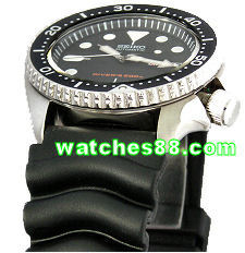 Seiko 22mm Diver rubber strap V- type for SKX007, SKX009, etc. Code: 4K32JB
