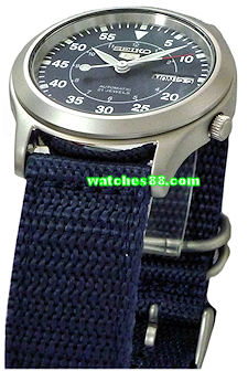Seiko 20mm Genuine Nylon Strap for SNKH63, SNKH65, SNKH67, SNKH69 & etc. Color: Blue Code: 301D2JL