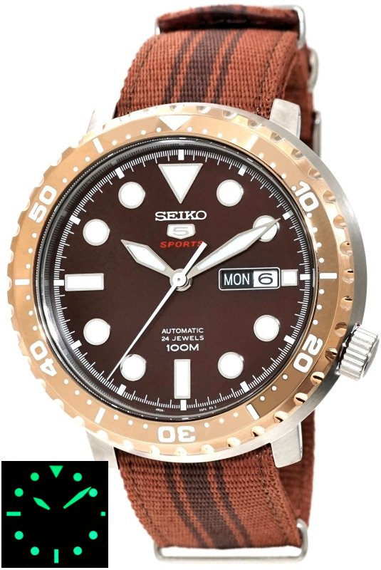 SEIKO 5 Sports Bottle Cap 100M Automatic SRPC68K1
