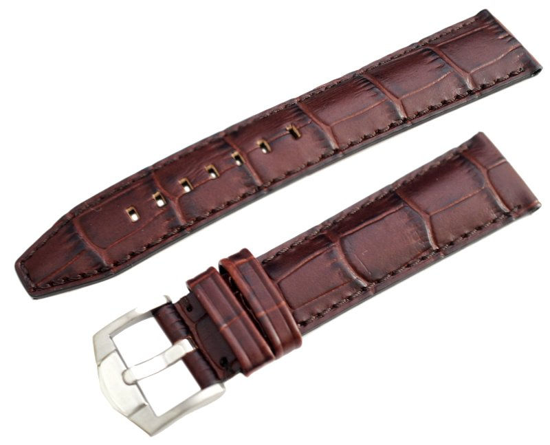 Rochet ( ZRC )  22mm INDIANA Calf Alligator grained Lather Strap Colde 5590893 Color : Brown